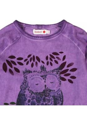 Camiseta BOBOLI niña punto elástico lila