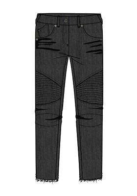 Pantalón BOBOLI niña denim elástico color negro