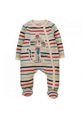 Pelele terciopelo BOBOLI  bebe niño listado multicolor