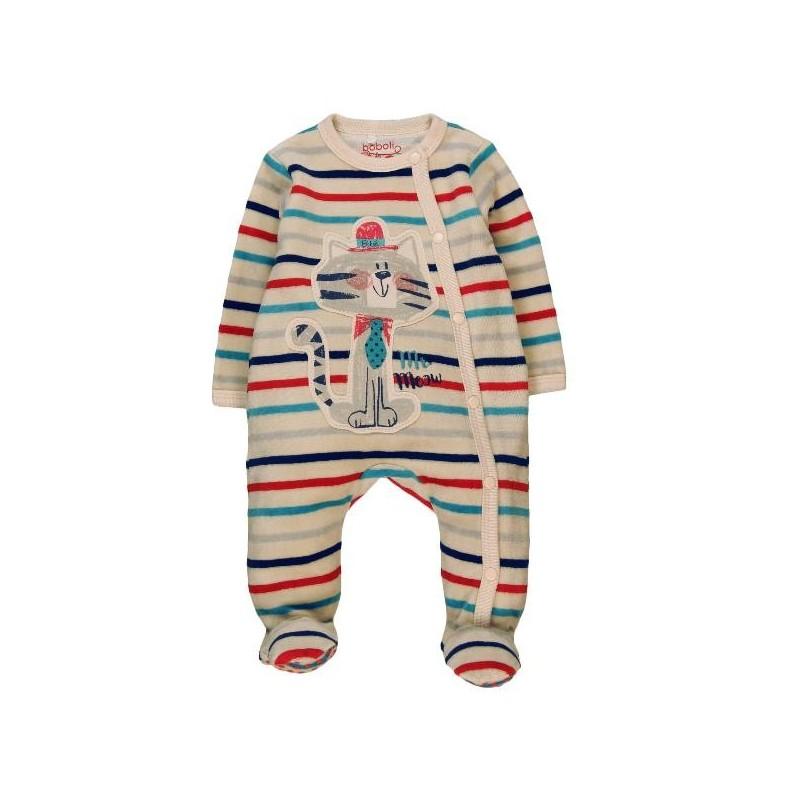 0aee50207 Pelele terciopelo BOBOLI bebe niño listado multicolor - tortugablava