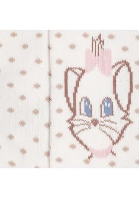 "Leotardo jacquard MAYORAL bebe niña ""gatita"" color pastel"
