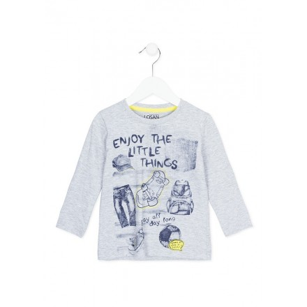 "Camiseta manga larga LOSAN niño ""enjoy the little things"""
