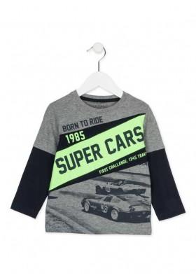Camiseta manga larga LOSAN niño con estampado de carreras