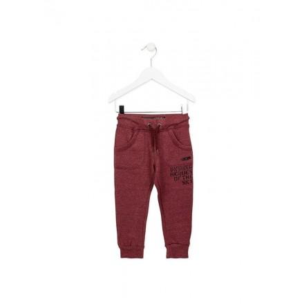 Pantalón de felpa LOSAN niño en color granate vigoré