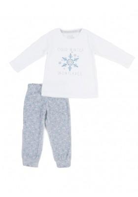Pijama de terciopelo LOSAN niña con estampado invernal