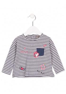 Camiseta manga larga LOSAN bebe niña con rayas