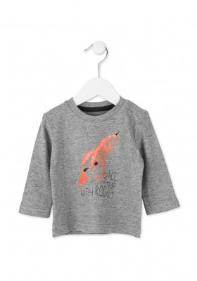 "Camiseta manga larga LOSAN bebe niño ""cohete"""