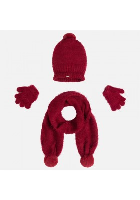 Conjunto Mayoral niña gorro, bufanda y guantes