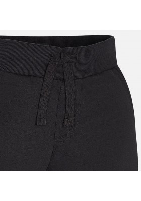 Pantalón felpa MAYORAL niño basico puños negro