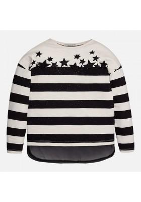 Camiseta manga larga MAYORAL niña rayas estrellas
