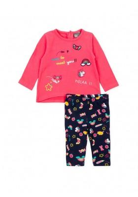Conjunto LOSAN bebe niña de camiseta y legging