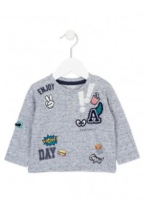 "Camiseta  manga larga LOSAN bebe niño con ""parches"""