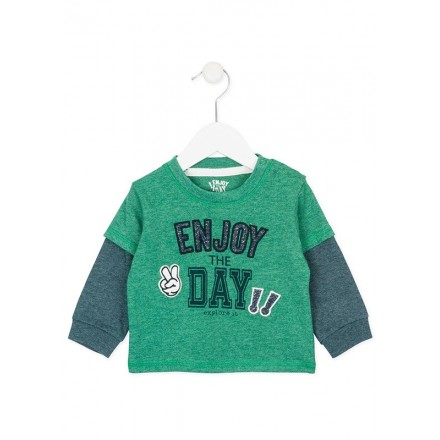 "Camiseta manga larga LOSAN bebe niño ""enjoy"""