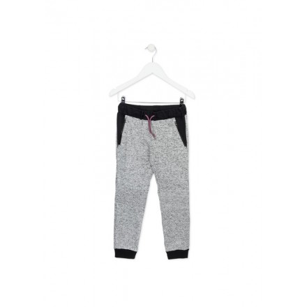 Pantalón LOSAN niña de punto liso con cremalleras en bolsillos