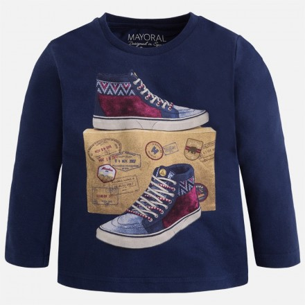 "Camiseta manga larga MAYORAL niño ""zapatillas"""