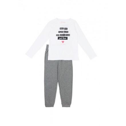Pijama de algodón LOSAN niña de puntos