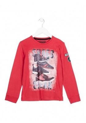 Camiseta LOSAN niño roja con estampado