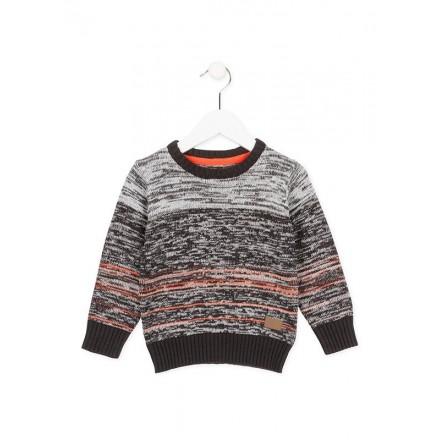 Jersey LOSAN niño cuello redondo de tricotosa en color gris vigoré