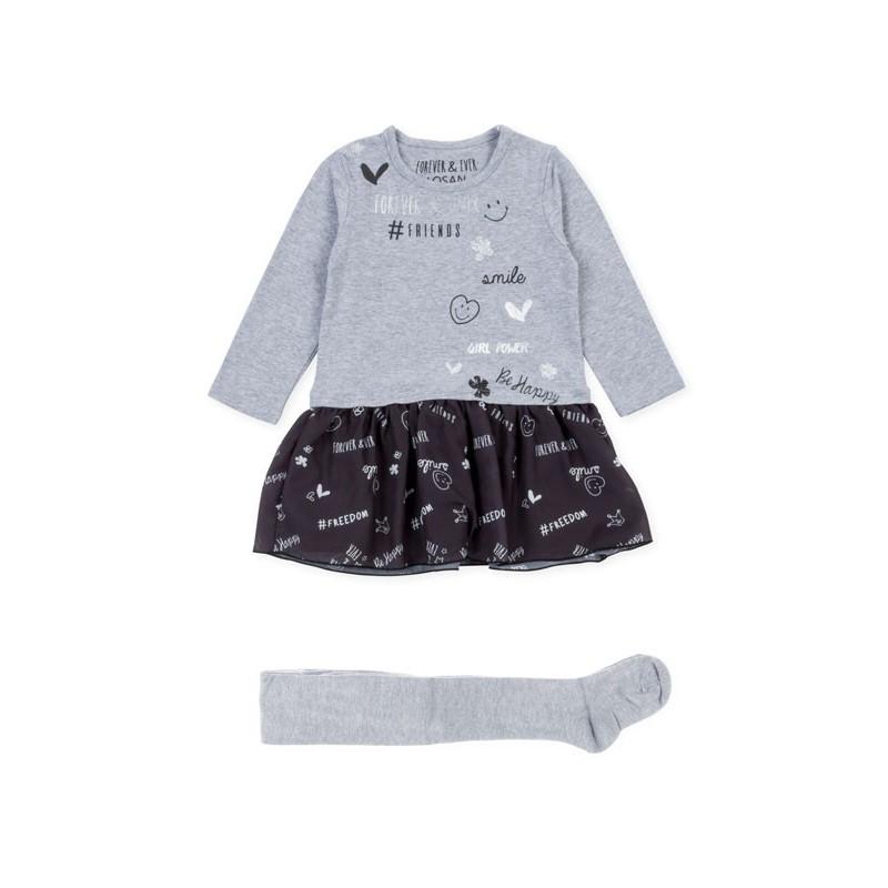 colores armoniosos Moda una gran variedad de modelos Conjunto de vestido LOSAN niña con falda simulada - tortugablava