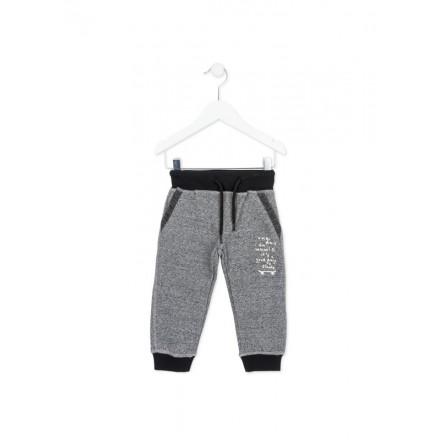 Pantalón chandal LOSAN niño en color gris vigoré