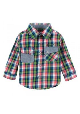 Camisa manga larga BOBOLI bebe niño de quadors verde y azul