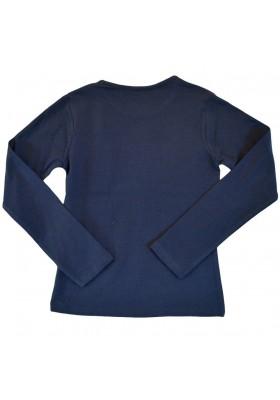 "Camiseta manga larga LOSAN niña ""best smile"" azul marino"