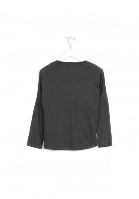 """Camiseta manga larga LOSAN niña """"believe y love"""" gris"""