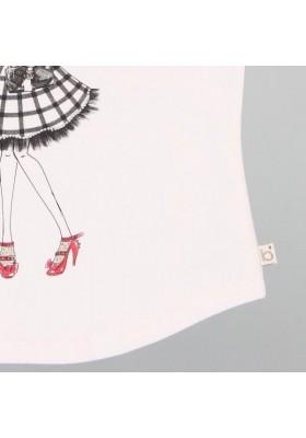 Camiseta manga larga BOBOLI niña de punto elástico de niña