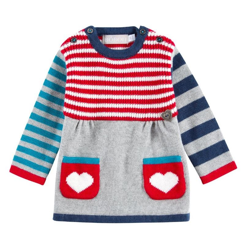 dfbc7325cc1b9 Vestido Tricotosa BOBOLI para bebe niña - tortugablava
