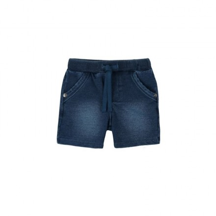 Pantalón corto felpa denim BOBOLI de bebé niño