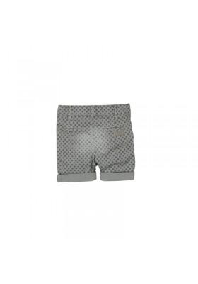 Pantalón corto gabardina BOBOLI de bebé niño gris