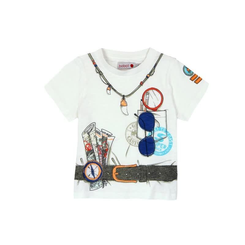 1fd8a6642 Camiseta manga corta punto flamé BOBOLI de bebé niño