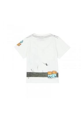 "Camiseta manga corta punto flamé BOBOLI de bebé niño ""explorador"""