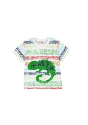 Camiseta  manga corta punto liso BOBOLI de bebé niño