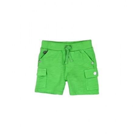 Pantalón corto felpa flamé BOBOLI de bebé niño verde