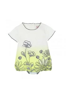 "Vestido manga corta viscosa BOBOLI de bebé niña ""flores"""