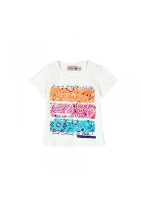 Camiseta manga corta punto liso BOBOLI de bebé niña