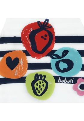 """Vestido manga corta punto combinado BOBOLI de bebé niña """"fresas"""""""