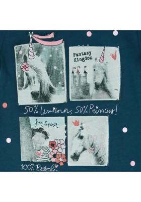 """Camiseta manga corta punto liso BOBOLI de bebé niña """"unicornio"""""""