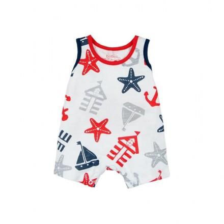 Pelele sin mangas punto BOBOLI de bebé niño marinero