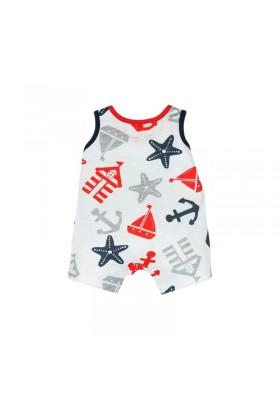 3702296e4 Pelele sin mangas punto BOBOLI de bebé niño marinero - tortugablava