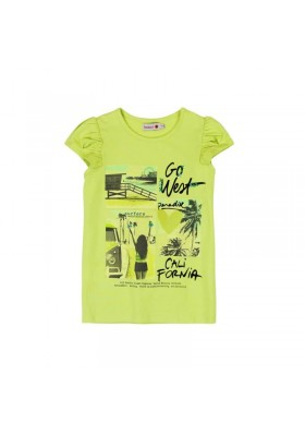 "Camiseta manga corta BOBOLI niña punto elástico ""california"""