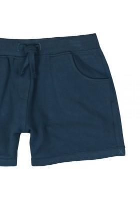 Pantalón corto BOBOLI niña felpa elástica indigo