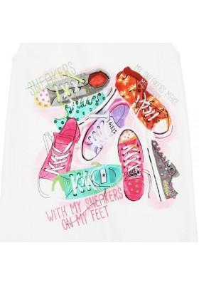 "Camiseta manga corta BOBOLI niña punto elástico ""zapatos"""
