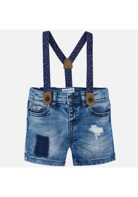 Pantalón corto MAYORAL bebe niño tejana tirantes