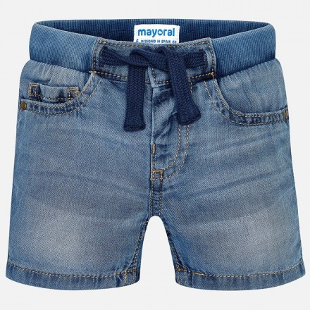 Pantalón corto MAYORAL bebe niño tejana patente basica