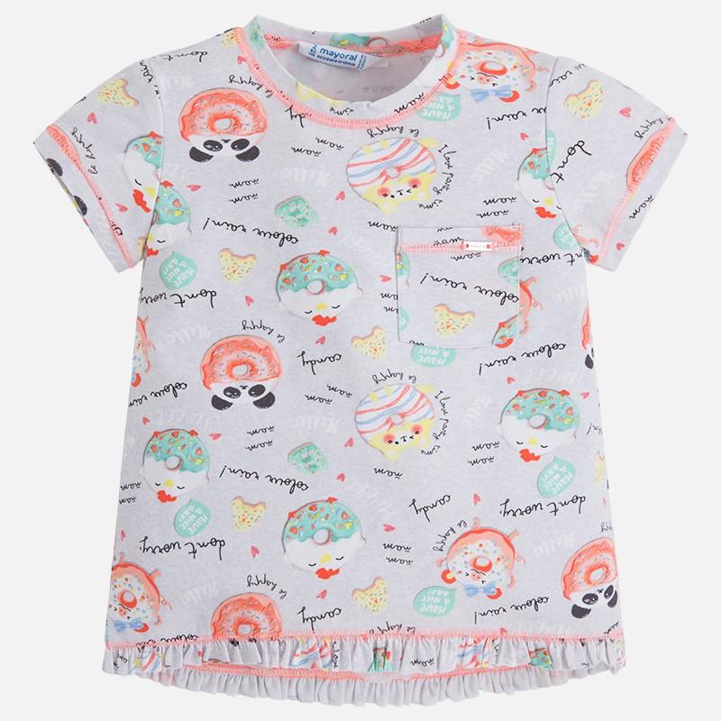 1fbd0a6ac Camiseta manga corta MAYORAL niña estampado dulces - tortugablava