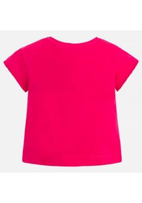 Camiseta manga corta MAYORAL niña volantes magenta