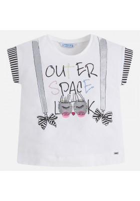 Camiseta manga corta MAYORAL niña tirantes glitter