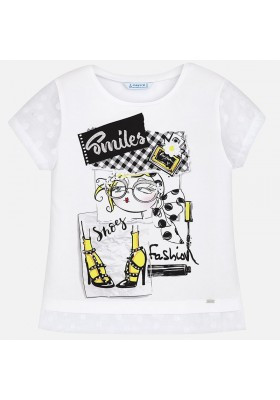 "Camiseta manga corta MAYORAL  niña ""smiles"""